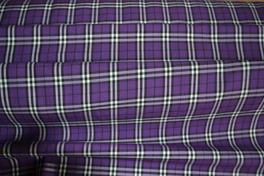 purple & white tartan