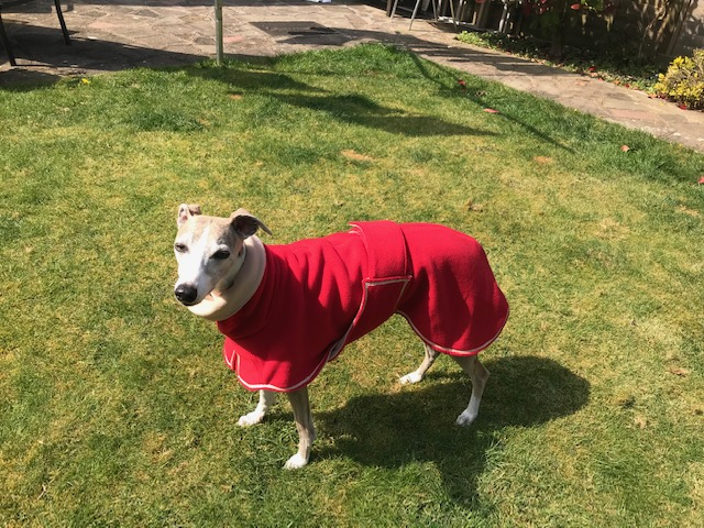 Grace from Hereford - Double Fleece Coat - Red/Camel