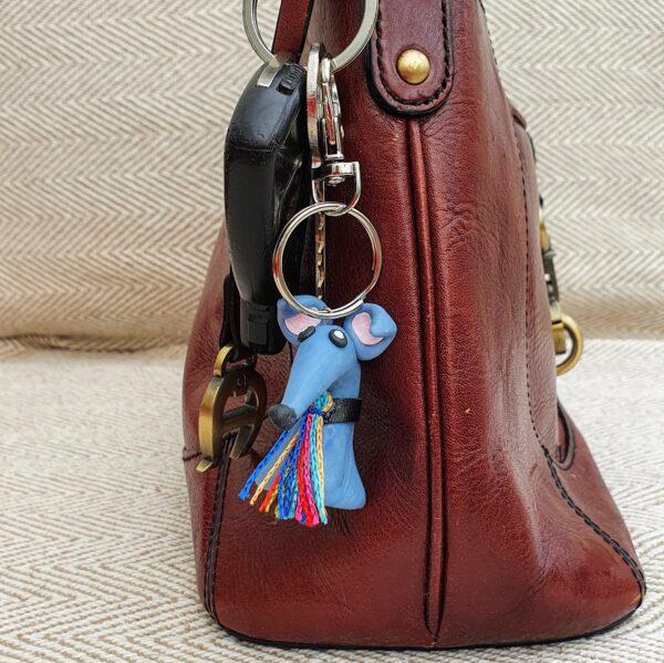 Greyhound Key Ring Blue (Brian)