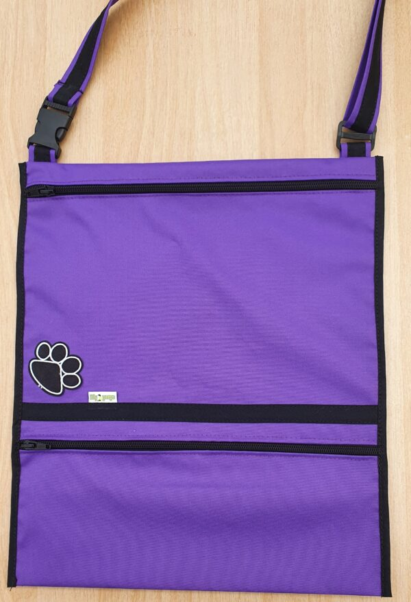 Dog Walking Bag Carry-All Purple