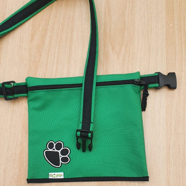 Single Pocket Dog Walking Bag Green