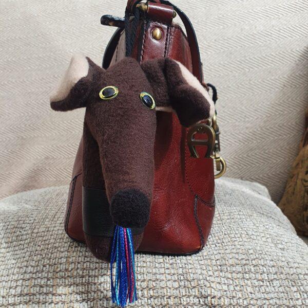 Greyhound key ring bag charm Norman the Greyhound