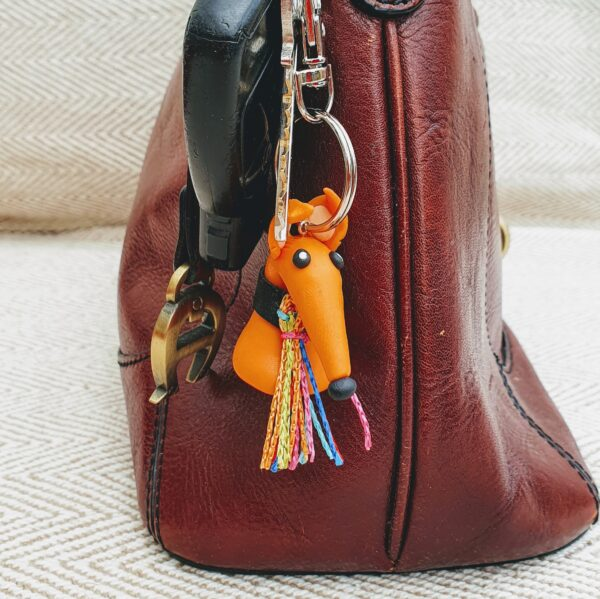 Greyhound Key Ring Orange (Oscar)